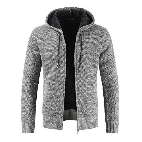- Men's Casual Autumn Winter Zipper Fleece Hoodie Outwear Tops Sweater Blouse Coat by Teresamoon