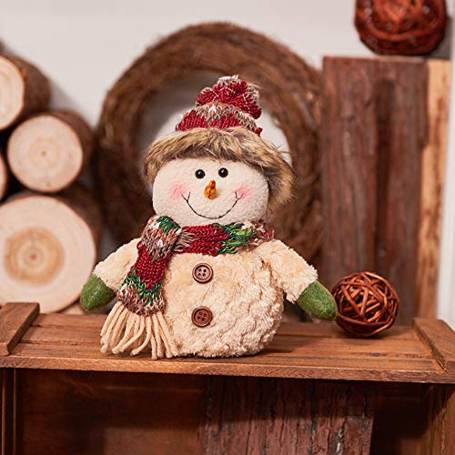 Christmas Doll Decorations Snowman Elk Santas Miniature People Doll Toy Ornament Holiday Figurines Children's Gifts ()
