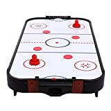 Simlive 40 Inch Table Top Air Hockey with Metal Fan (White, 40 inch)