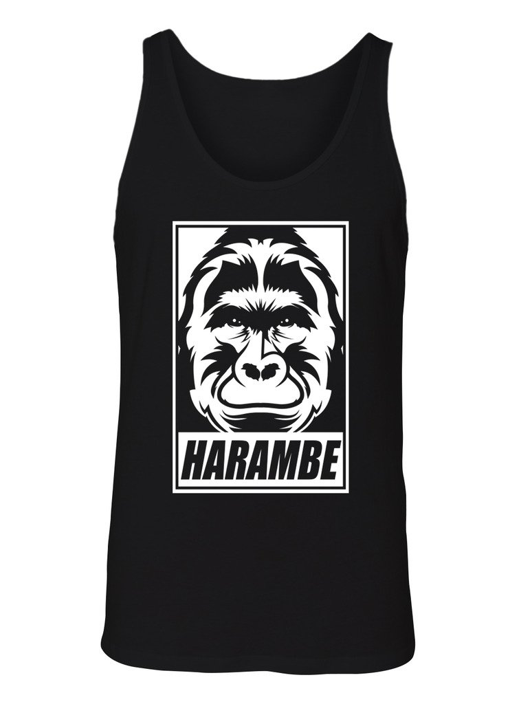 Rip Harambe Face Tank Top 8978 Shirts