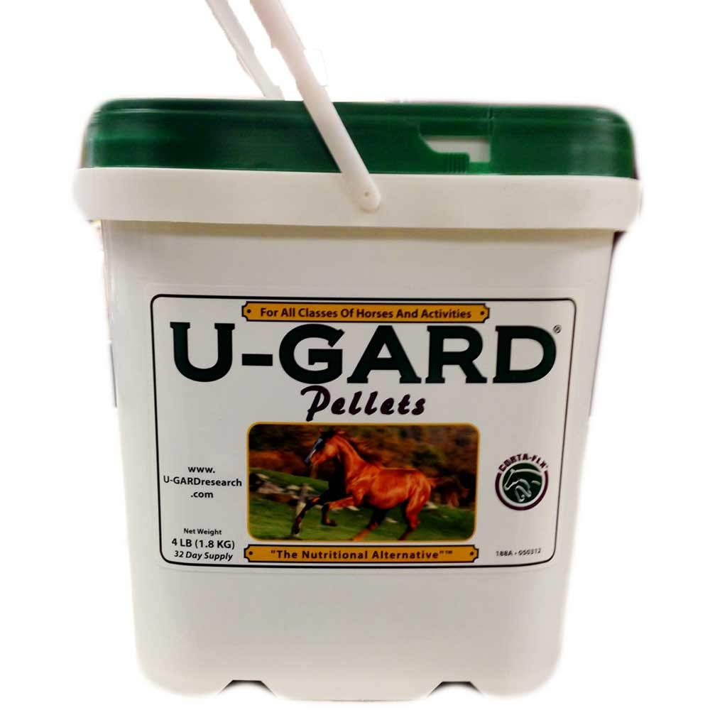 U-Gard Pellets 4 lb for All Classes of Horses and Activities. A Calcium Magnesium Dietary Supplement