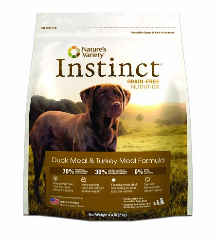 Instinct Grain-Free Duck Meal and Turkey Meal Dry Dog Food by Nature's Variety, 4.4-Pound Package, My Pet Supplies