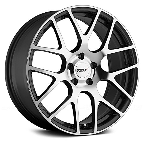 Mitsubishi Eclipse Alloy Wheel - TSW NURBURGRING Grey Wheel with Painted Finish (17 x 7.5 inches /5 x 114 mm, 45 mm Offset)