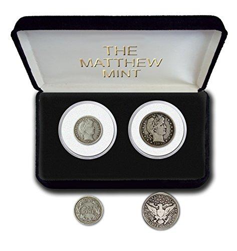 1892 Various Mint Marks Barber quarter and dime Good