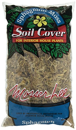 - Mosser 0180 Long Fibered Sphagnum Moss, 100-Cubic Inch