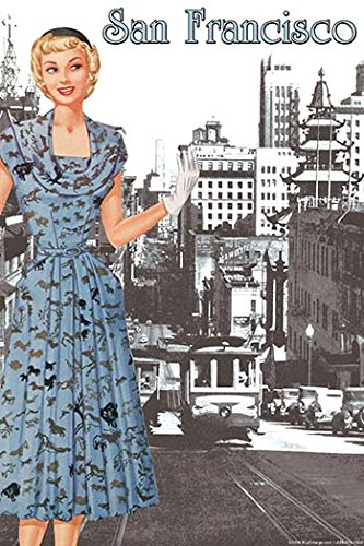 Buyenlarge 0-587-21280-2-C2030 San Francisco Walking Dress I Gallery Wrapped Canvas Print, 20