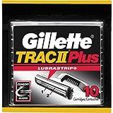 Gillette Trac II Plus Shaving Cartridges - 10 Cartridges