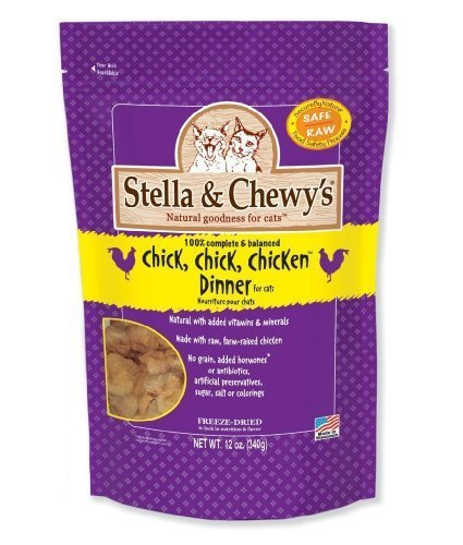 Stella & Chewy's Chick Chick Chicken Dinner Freeze Dried Cat Food, (PACK OF 2, 12-OZ) by Stella & Chewy's