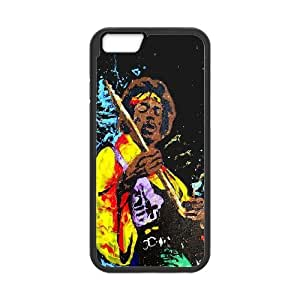 Jimi Hendrix Jamming iPhone 6 Plus 5.5 Inch Cell Phone Case Black DIY Gift zhm004_6629644