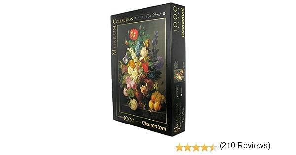 Clementoni - Puzzle de 1000 Piezas Louvre, diseño Van Dael: Jarrón con Flores (314157): Amazon.es: Juguetes y juegos