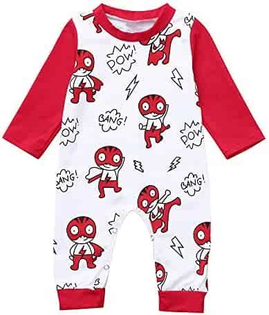 e0f8d2505a GoodLock Baby Boys Girls Fashion Rompers Toddler Newborn Long Sleeve  Cartoon Letter Print Romper Jumpsuit Clothes