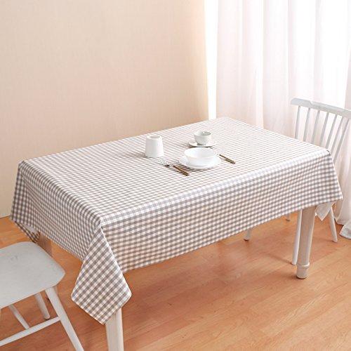MoMo Einfaches Gitter-Moderner unbedeutender Plastik PVC imprägniern und ölBesteändiges Wegwerfhaushalts-Staub-Tuch-rechteckige Tischdecke,BB,137x190cm B0797RNNNX Tischdecken Niedrige Kosten     | Vorzugspreis