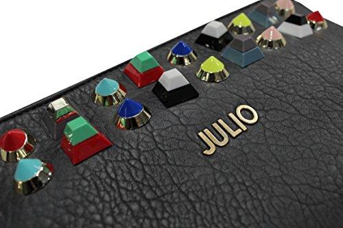 pour en femme pochette goujons métal Julio Gris coloré line wX67qcE