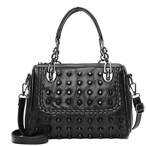 Bag Women Messenger Shoulder Handbags For A Rivet Crossbody PU NXDA Purse Bag Casual Girls Hasp and Tote qx8ROnwHp