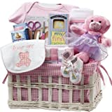 Art of Appreciation Sweet Baby Special Delivery Gift Basket (Girl Pink)
