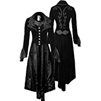 Frieed Womens Basic Steampunk Gothic Halloween Victorian Tailcoat Long Jackets