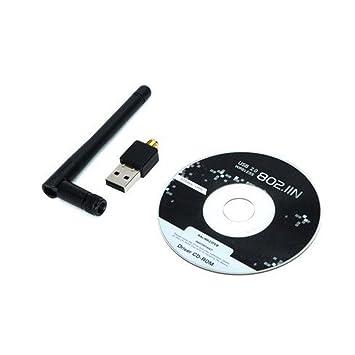 Antena ordenador portátil con conductor. Receptor Antena 802.11n adaptador de LAN tarjeta de red inalámbrica: Amazon.es: Electrónica