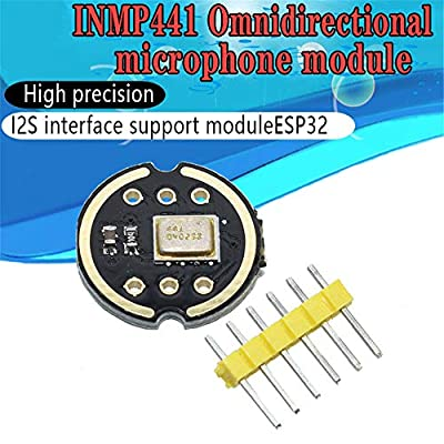 BYBYCD Omnidirectional Microphone Module I2S Interface INMP441 MEMS High Precision Low Power Ultra Small Volume for ESP32: Home & Kitchen