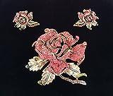 Heidi Daus Rose Elegance Paparasha Color Pin & Earring Set Swarovski Crystals Beautifully Elegant Rare, one of a kind Set!!!