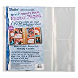 Bulk Buy: Darice DIY Crafts Memory Book Refill Photo Pages Archival, Photo Safe 12 x 12 (10-Pack) 1213-66