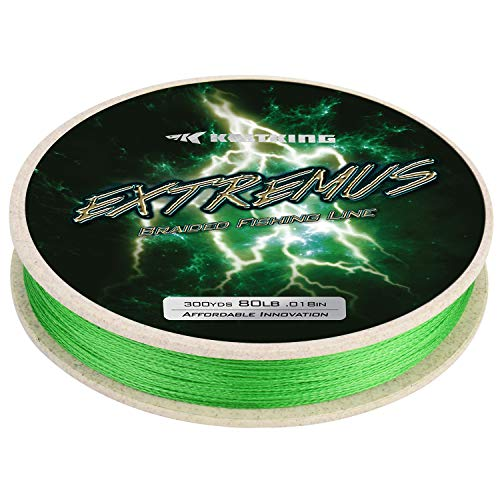 KastKing Extremus Braided Fishing Line,Grass Green,300Yds,8LB (Best Braided Ice Fishing Line)