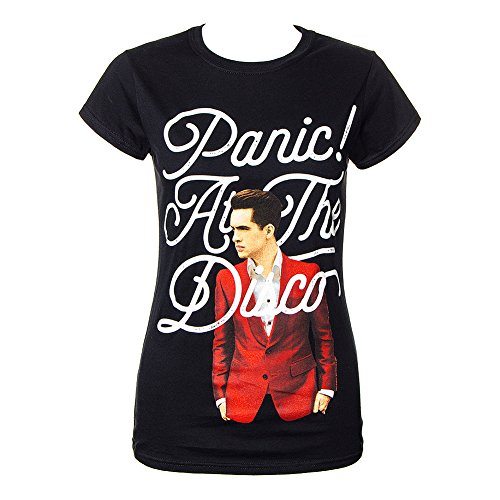 Disco Logo Tee (ZYX Panic! At The Disco Tour 2016 Logo T Shirt For Women Black)