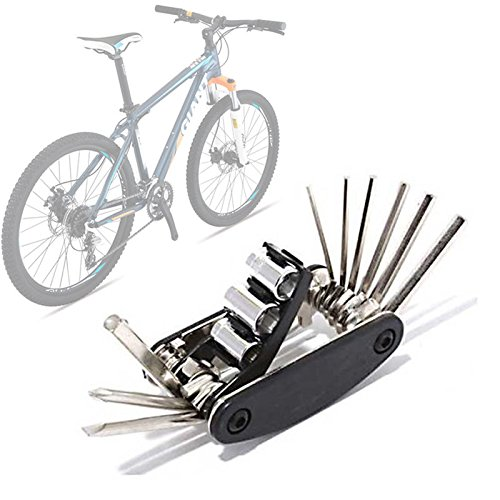 Bicycle Repair Tool Bike Pocket Multi Function Folding