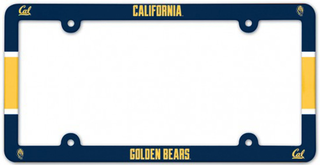 WinCraft California Golden Bears UC Berkeley Plastic License Plate Frame