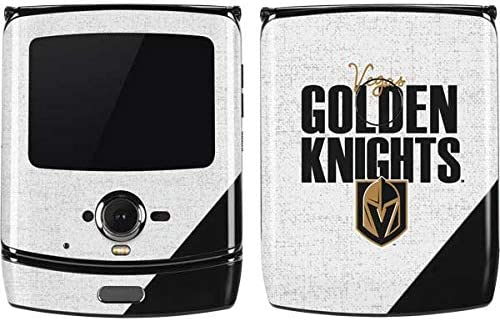 Amazon Com Skinit Decal Phone Skin For Motorola Razr Officially Licensed Nhl Vegas Golden Knights Script Design Electronics