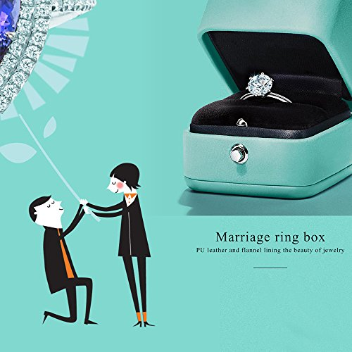 Oirlv Velvet Ring Box Jewelry Gift Case Ring Bearer Box Wedding,Propose by Oirlv (Image #1)