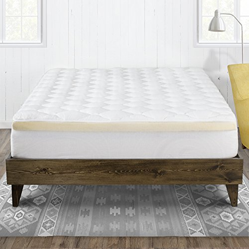 mattress pad with fitted skirt double thick extra plush mattress topper 2 ebay. Black Bedroom Furniture Sets. Home Design Ideas