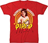 WWE Rowdy Roddy Piper Legends Retro Big & Tall T-Shirt (4X Big, Red)