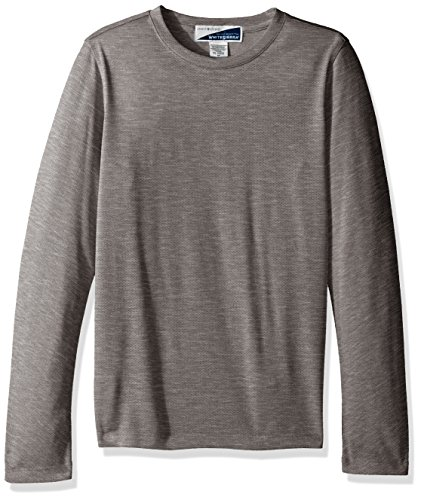 White Sierra Youth Bug Free Long Sleeve Tee, X-Large, Heather Gray