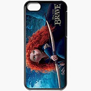 Personalized iPhone 5C Cell phone Case/Cover Skin Disney pixar brave movies Black
