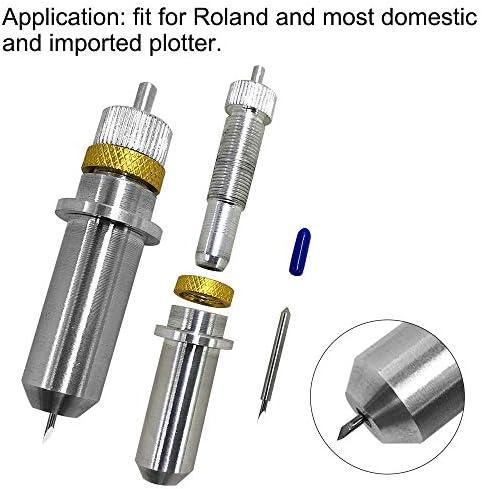 AFUNTA - Cuchillas de Corte de Vinilo para Roland y la mayoría de los trazadores domésticos e Importados con Base de Soporte de Cuchilla (30 Unidades, 30/45/60 Grados): Amazon.es: Electrónica