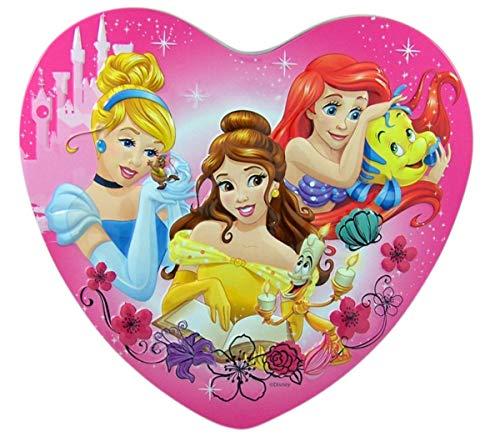 Disney Princess Valentines Day Heart Tin with Milk Chocolates, 3.38 oz (Disney Princess)