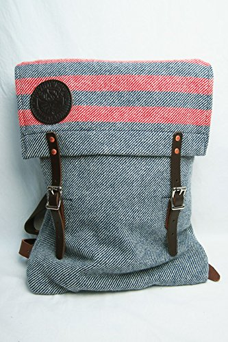 Faribault Woolen Mills×Duluth Pack / Scout Pack (Navy/Red)   B00Q9N5ZNY