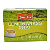 Quik Tea Lemongrass Tea 10 Pouches Made from Assam Teas All Natural No Preservatives (240 g / 8.5 oz)