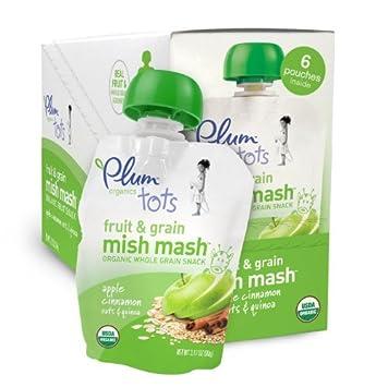 Amazon.com : Tots Frutas y Granos Mish Mash, manzana y ...
