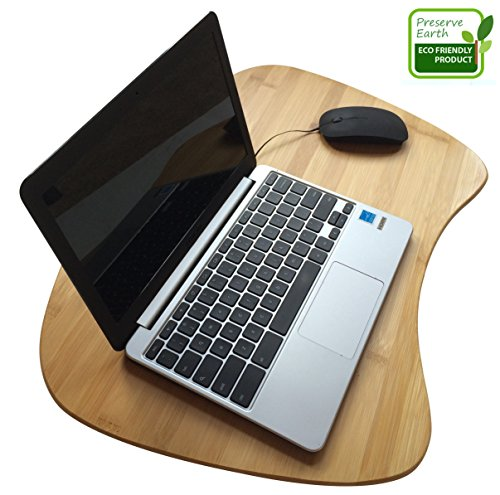 Bamboo Laptop Lap Desk of Extra Large Size