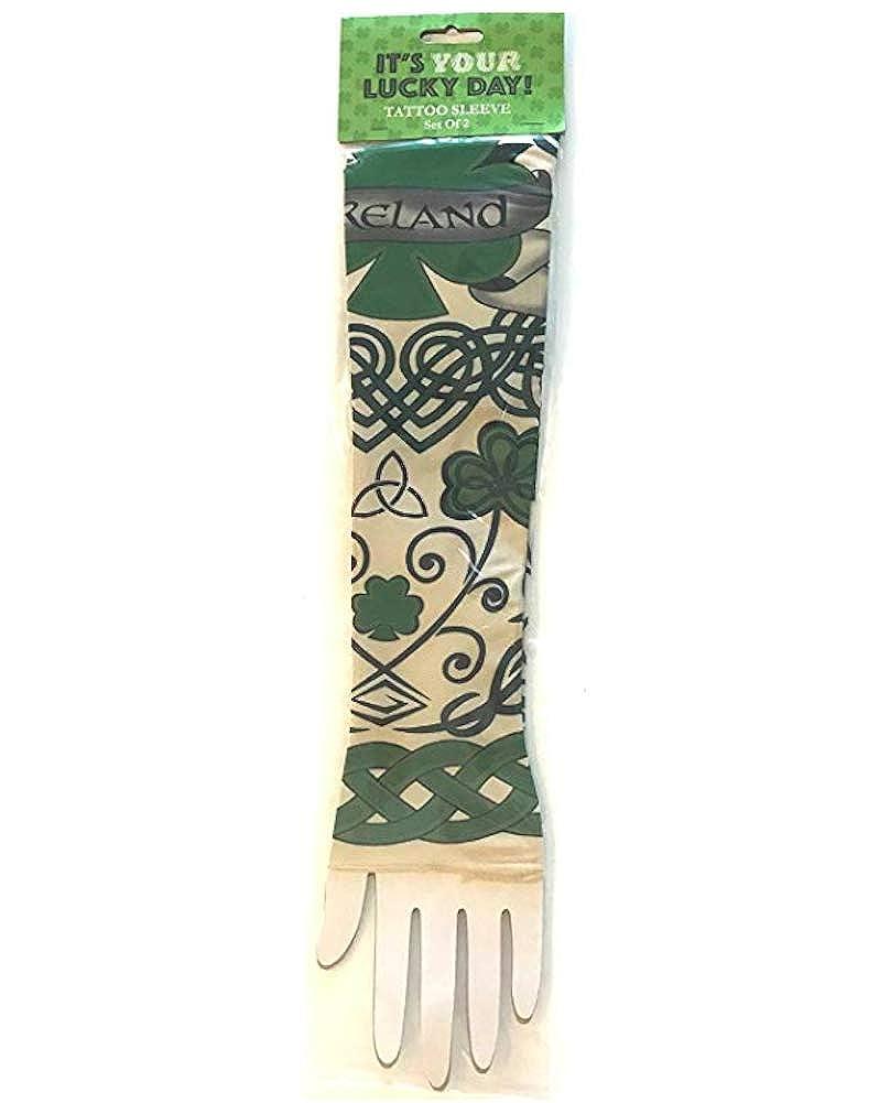 Five Below Irish St Patricks Day Ireland Celtic Tattoo Sleeves Green