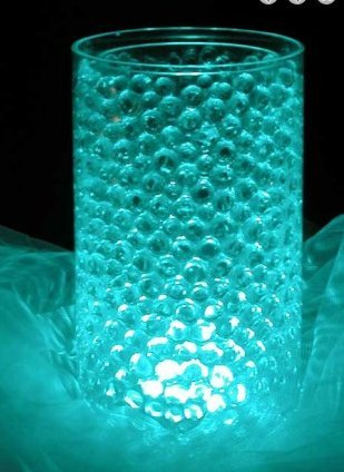 AQUA - JellyBeadZ Brand Crystal Water Gel Beads for Wedding Party Decor Crystal Soil Jelly Balls Water Pearls Vase Filler Centerpieces 20 Bags