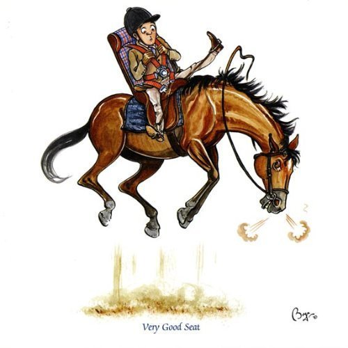 Very Good Seat Greeting Card for people who like horses, hunting and riding Bryn Parry GCS1533
