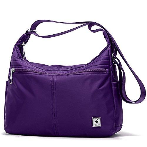 Nylon Hobo Handbags - 8