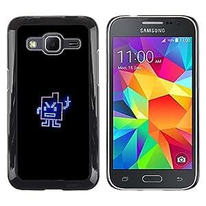 Dedo medio divertido - Metal de aluminio y de plástico duro Caja del teléfono - Negro - Samsung Galaxy Core Prime