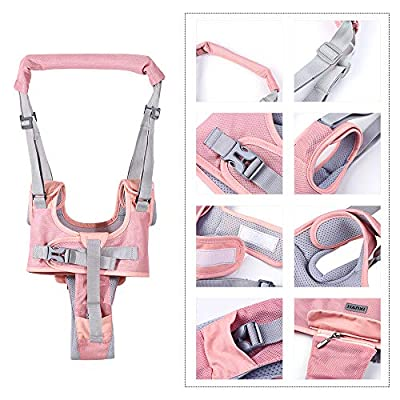 Decdeal Baby Walker Toddler Walking Assistant Protective Belt Adjustable Dual Design Handheld Baby Walking Harnesses Safety Breathable Walking Learning Helper Wings for 7-36 Months Baby: Home & Kitchen