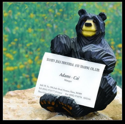 4 inches Wide x 5 Inches High Bear Business Card Holder