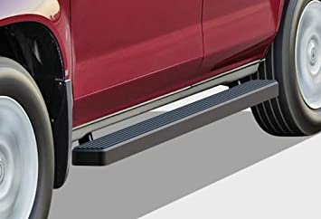 APS iBoard Black Running Boards Style Custom Fit 2016-2020 Honda Pilot Sport Utility 4-Door 6in Wide Aluminum Nerf Bars Side Steps