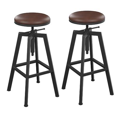 Amazon.com: NUBAO Taburete de bar, silla de bar, sillón de ...