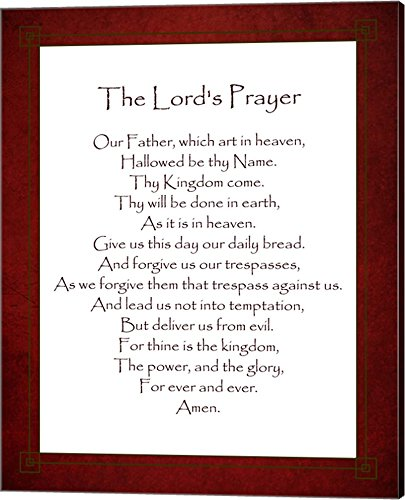 The Lord's Prayer - Red by Veruca Salt Canvas Art Wall Picture, Gallery Wrap, 16 x 20 inches Prayer Canvas
